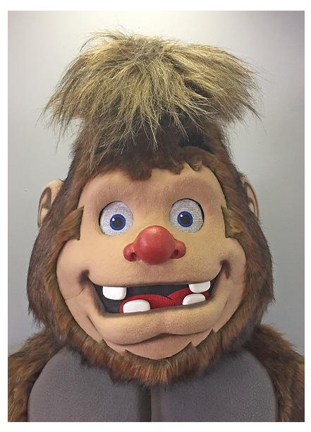 Custom Mascot Head Grotch Made by Dale Morton Studio