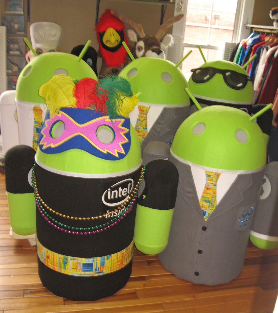 Androids in costume