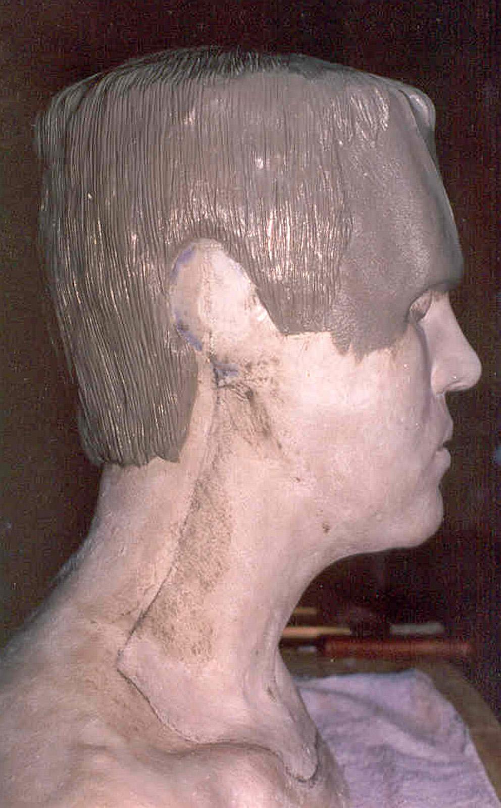 Frankenstein head piece sculpture