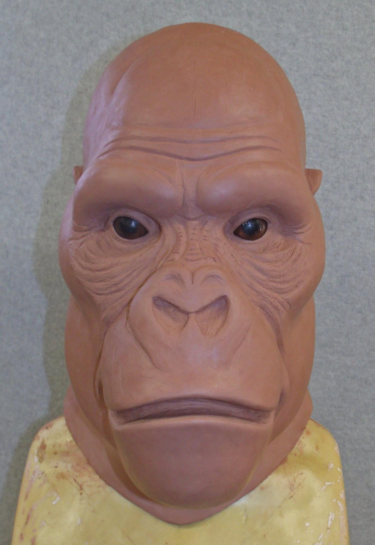 Gorilla Head work-in-progress