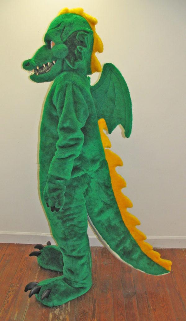 Off the Shelf Green Dragon Mascot Costume
