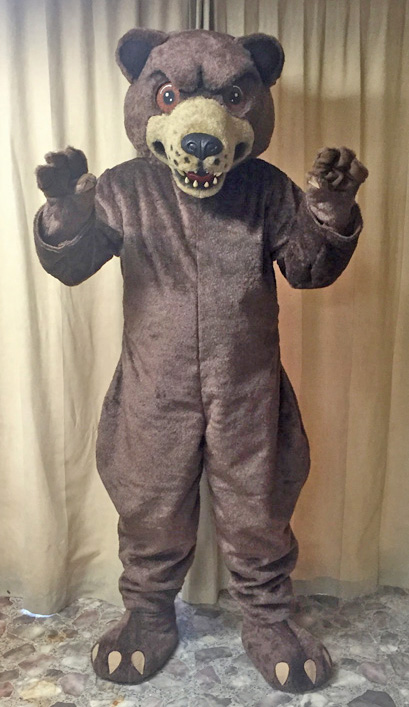 Off the Shelf Grizzly Bear Mascot Costume