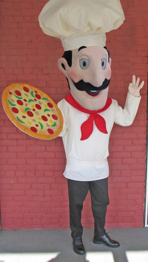 Off the Shelf Pizza Man Mascot Costume