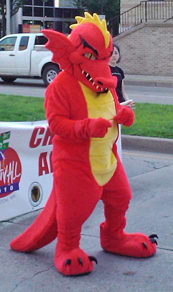 Off the Shelf Red Dragon Mascot Costume